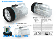CLW-1610 TRANSPARENT MULIFUNCTION SPOT LIGHT WITH REFLECTOR